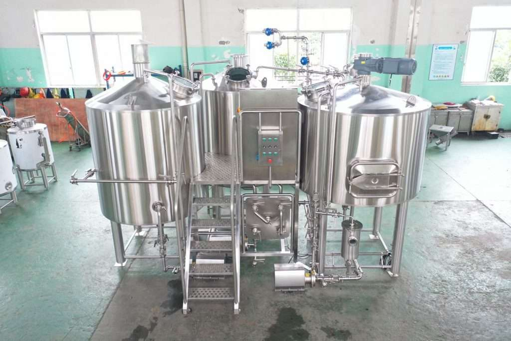 Villages 3 Vessel Brewhouse - Direct Fire Brewing