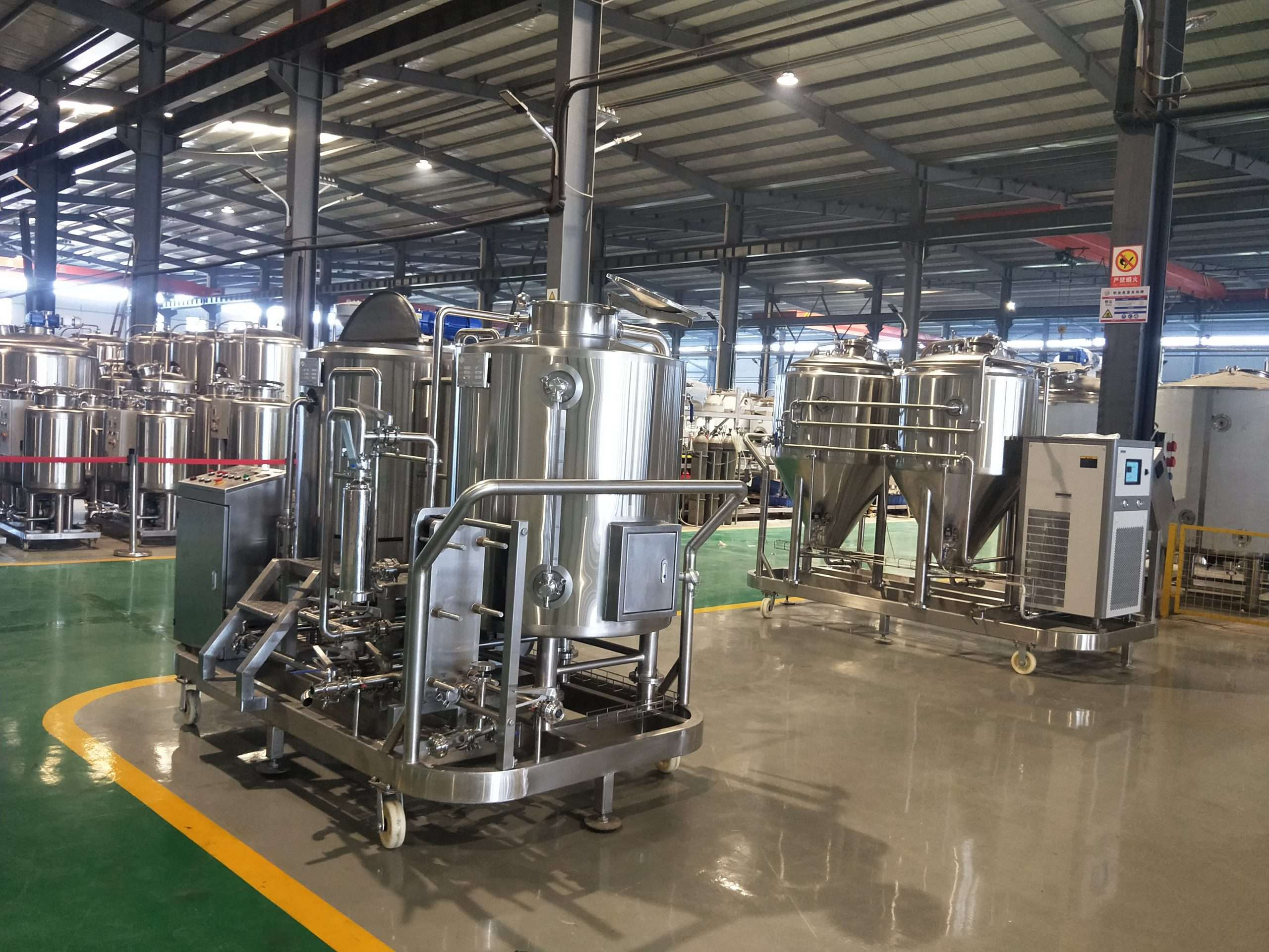 Small Affordable Skid-Mounted Brewhouse - Angle 2